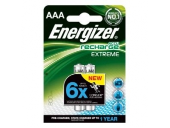 Energizer batérie dobíjateľné AAA-HR03/2ks 800mAh mikrotužkové
