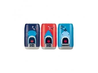 MILAN Guma + strúhadlo Capsule Shark Attack