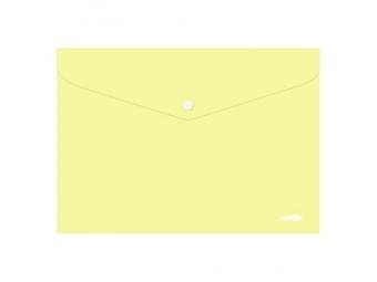 JUNIOR Obal plastový A4 so zapínaním, pastel žltý