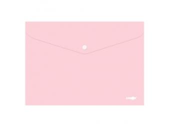 JUNIOR Obal plastový A4 so zapínaním, pastel ružový