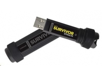 CORSAIR Flash Disk 32GB Survivor Stealth, USB 3.0, čierny