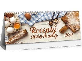 Kalendár 2021 RECEPTY STAREJ MAMY stolový, dvojtýždenný, 300x120mm
