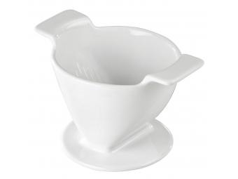 Xavax porcelánový filter na kávu (dripper), veľkosť 4, biely