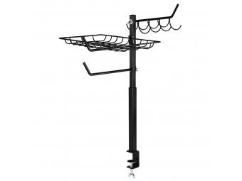 Xavax odkladací držiak pre gril, výškovo nastaviteľný (60-72 cm), čierny