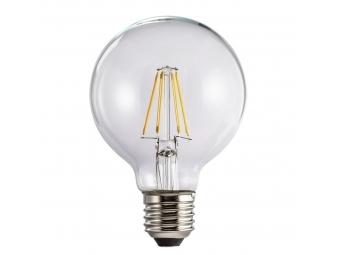 Xavax LED filament žiarovka, E27, 470 lm (nahrádza 40 W), tvar gule, teplá biela