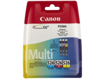 Canon CLI-526 Atramentová náplň Color multipack, C/M/Y