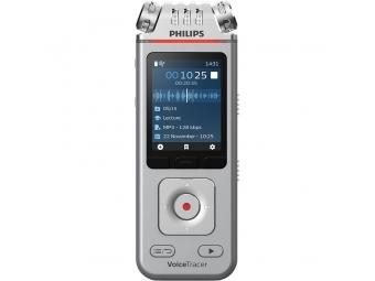 Philips digitálny záznamník DVT4110 - 8GB, USB, microSDHC až 32GB, farebný displej, li-pol batéria