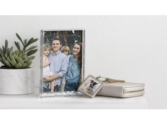Samoobsluha - Kodak Moments DIY Fotorám Glitter trblietky (snehové vločky)