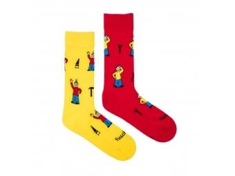 """Fusakle ponožky Pat a Mat """"M"""" (39-45)"""