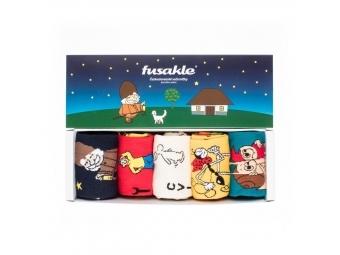"""Fusakle ponožky Večerníčky """"L"""" (43-46) darčeková krabička (bal=5ks)"""