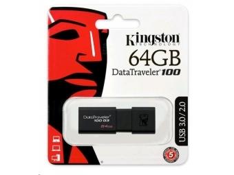 Kingston USB 3.0 DataTraveler 100 G3 64GB (100MB/s čítanie , 10MB/s zápis)