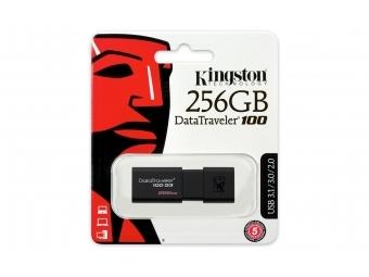 Kingston USB 3.0 DataTraveler 100 G3 256GB (100MB/s čítanie , 10MB/s zápis)