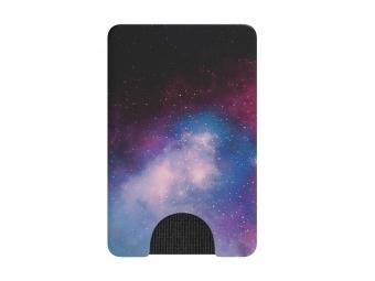 PopSockets PopWallet Blue Galaxy, puzdro na mobil na karty/vizitky apod.