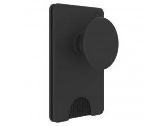 PopSockets PopWallet+ Black, puzdro na karty/vizitky a pod. s integrovaným PopGrip Gen.2