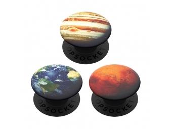PopSockets PopMinis Out of this World, Zem, Mars, Jupiter, 3 mini PopSockety