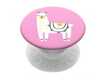 PopSockets PopGrip Gen.2, Llama Glama, lama na ružovom podklade