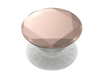 PopSockets PopGrip Gen.2, Metalic Diamond Rose Gold, 3D diamant ružové zlato, hliníkový