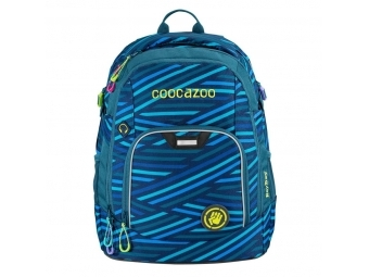Coocazoo školský ruksak Rayday, Zebra Stripe Blue