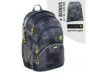 Coocazoo školský ruksak JobJobber2, Mamor Check + BONUS ŠPORTOVÝ VAK