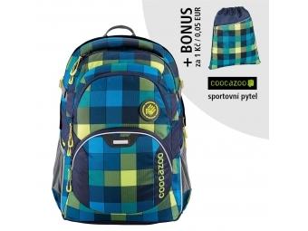 Coocazoo školský ruksak JobJobber2, Lime District + BONUS ŠPORTOVÝ VAK