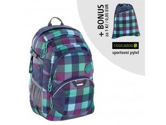 Coocazoo školský ruksak JobJobber2, Green Purple District + BONUS ŠPORTOVÝ VAK