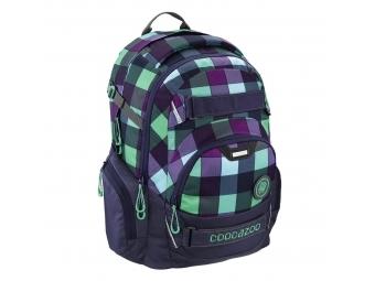Coocazoo školský ruksak CarryLarry2, Green Purple District