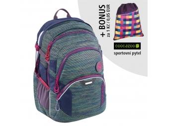 Coocazoo školský ruksak JobJobber2, Wildberry Knit + BONUS ŠPORTOVÝ VAK