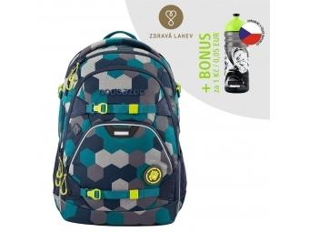 Coocazoo školský ruksak ScaleRale, Blue Geometric Melange, certifikát AGR + BONUS ZDRAVÁ FĽAŠKA