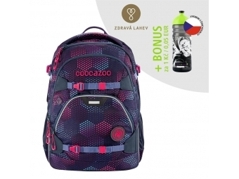 Coocazoo školský ruksak ScaleRale, Purple Illusion, certifikát AGR + BONUS ZDRAVÁ FĽAŠKA