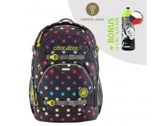 Coocazoo školský ruksak ScaleRale, Magic Polka Colorful, certifikát AGR + BONUS ZDRAVÁ FĽAŠKA
