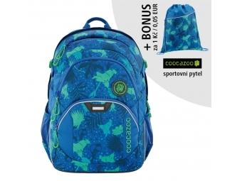 Coocazoo školský ruksak JobJobber2, Tropical Blue + BONUS ŠPORTOVÝ VAK
