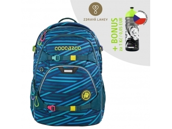 Coocazoo školský ruksak ScaleRale, Zebra Stripe Blue, certifikát AG + BONUS ZDRAVÁ FĽAŠKA