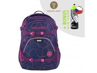 Coocazoo školský ruksak ScaleRale, Laserbeam Plum, certifikát AGR + BONUS ZDRAVÁ FĽAŠKA