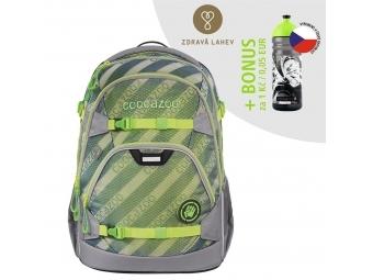 Coocazoo školský ruksak ScaleRale, MeshFlash Neongreen, AGR + BONUS ZDRAVÁ FĽAŠKA