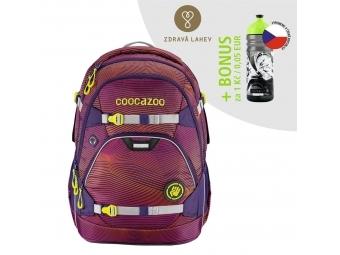 Coocazoo školský ruksak ScaleRale, Soniclights Purple, AGR + BONUS ZDRAVÁ FĽAŠKA