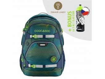 Coocazoo školský ruksak ScaleRale, Soniclights Green, certifikát AGR + BONUS ZDRAVÁ FĽAŠKA
