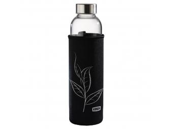 Xavax sklenená fľaša na nápoj, 500 ml, so sitkom a neoprénovým obalom