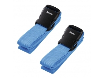 Hama 128808 set 2 popruhov na batožinu, 3,8 x 200 cm, modré (cena za set)