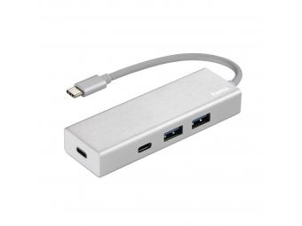 Hama 135755 USB-C 3.1 hub 1:4 Aluminium, 2x USB-A, 2x USB-C