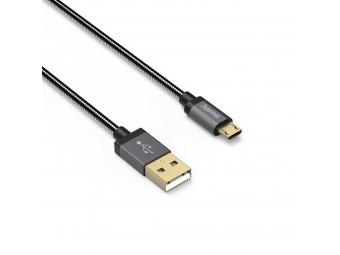 Hama 135789 micro USB kábel Elite, obojstranný konektor, kovový, 0,75 m