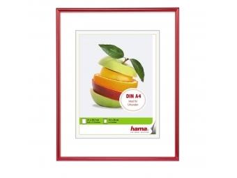 Hama 172718 rámček plastový SEVILLA, červená, 21x29,7 cm, priehľadný plast