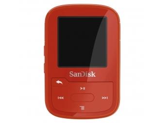SanDisk Clip Sport Plus 16 GB Wearable, Bluetooth MP3 Player, červená
