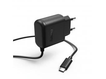 Hama 173617 sieťová nabíjačka s káblom, USB typ C (USB-C), 3 A, škatuľka Prime