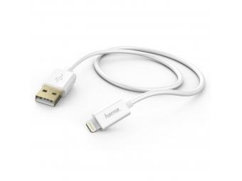 Hama 173640 MFI USB nabíjací/dátový kábel pre Apple s Lightning konektorom, 1,5 m, biely