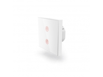 Hama 176551 WiFi dotykový nástenný vypínač, dvojitý, vstavaný, biely