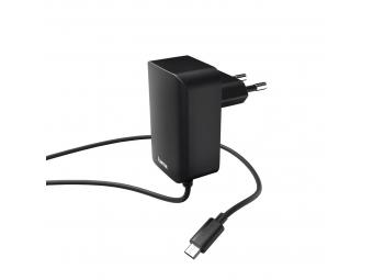 Hama 178301 sieťová nabíjačka s káblom, micro USB, 2,4 A, čierna, #183247