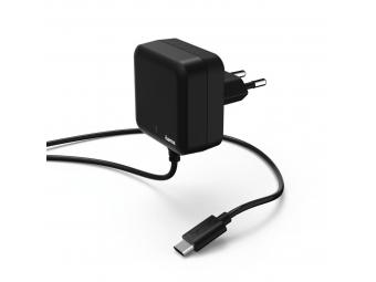 Hama 178309 rýchla sieťová nabíjačka s káblom, USB typ C (USB-C), Power Delivery, 3 A
