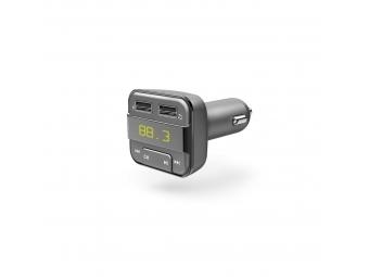Hama 183274 Bluetooth FM transmitter s USB nabíjacou funkciou, šedý