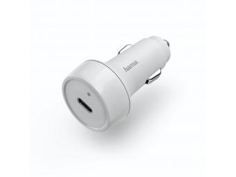 Hama 183278 rýchla USB nabíjačka do vozidla, USB-C, Quick Charge 3.0 / Power Delivery, 18 W, biela