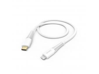 Hama 183309 MFi USB-C Lightning nabíjací/dátový kábel pre Apple, 1,5 m, biely